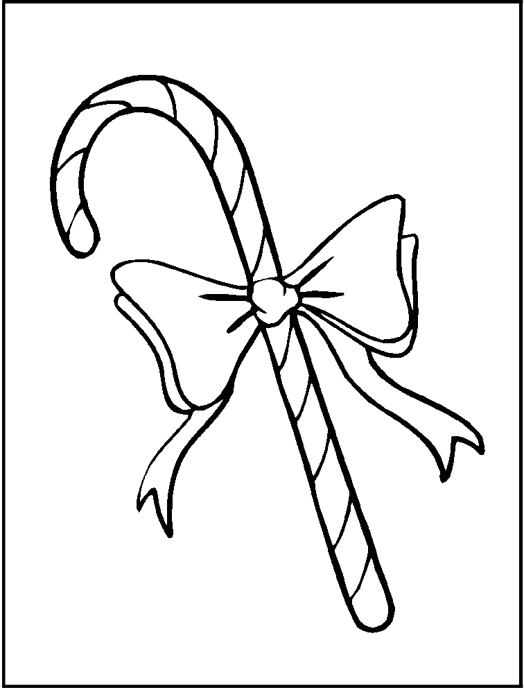 Baston De Navidad Con Mono Para Colorear Y Dibujar Dibujos De