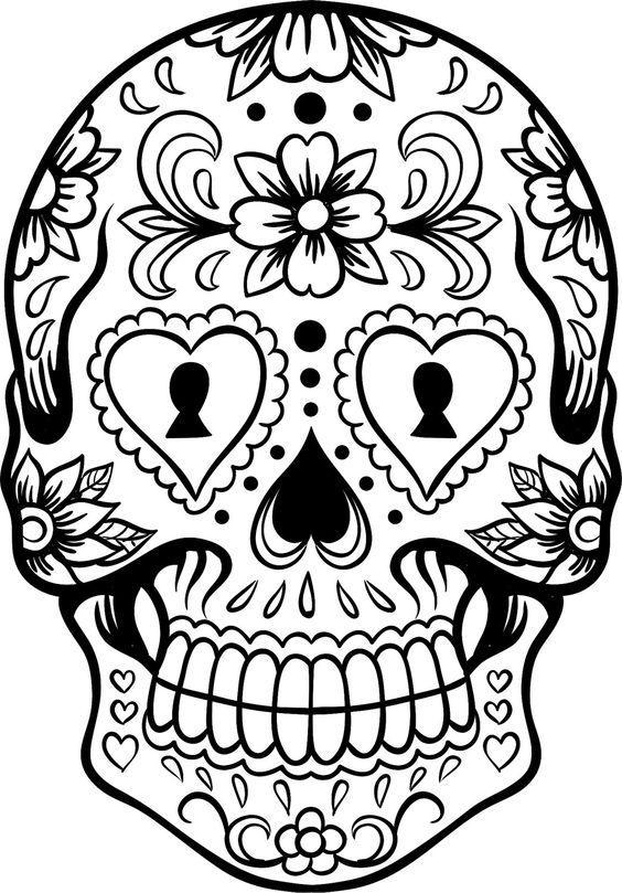 Calaveras Mexicanas para colorear - Dibujos De