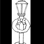 Faro Corona luz de navidad para recortar y colorear