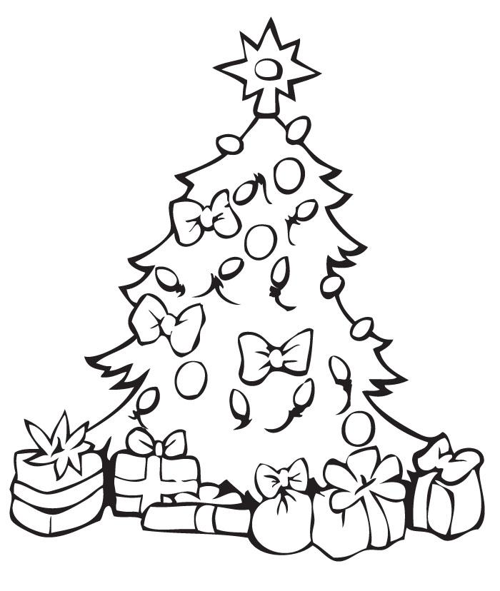 Imagenes de navidad para colorear dibujos de for Dibujo arbol navidad