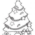 arbol de navideno con regalos para colorear dibujar recortar y adornar