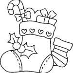 bota de Navideno con dulces para colorear dibujar recortar y adornar