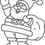 Imagen para dibujar y colorear de Papa Noel