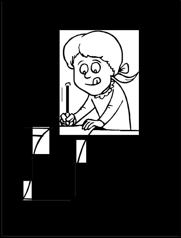 nina-escribiendo-carta-a-santa-claus-para-colorear-y ...