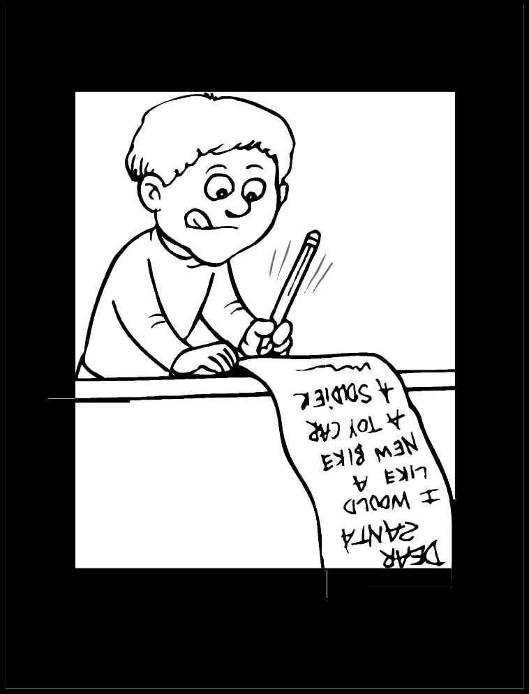 nino-escribiendo-carta-a-santa-claus-para-colorear-y-recortar ...