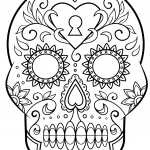 Imagen para dibujar colorear y adornar dia de muertos