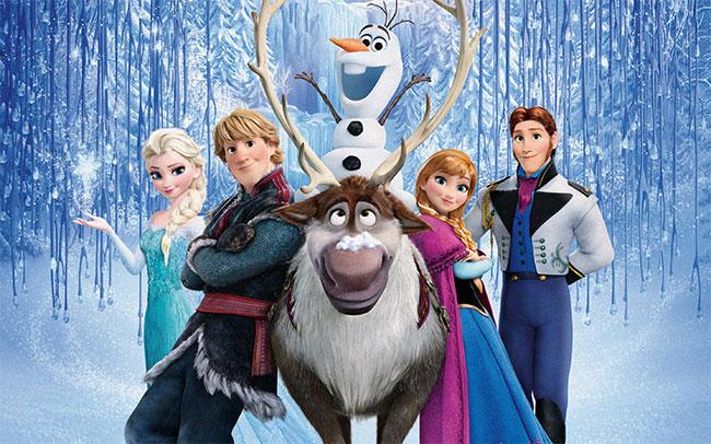 Frozen Disney Imagen para colorear dibujar iluminar pintar imprimir recortar adornar