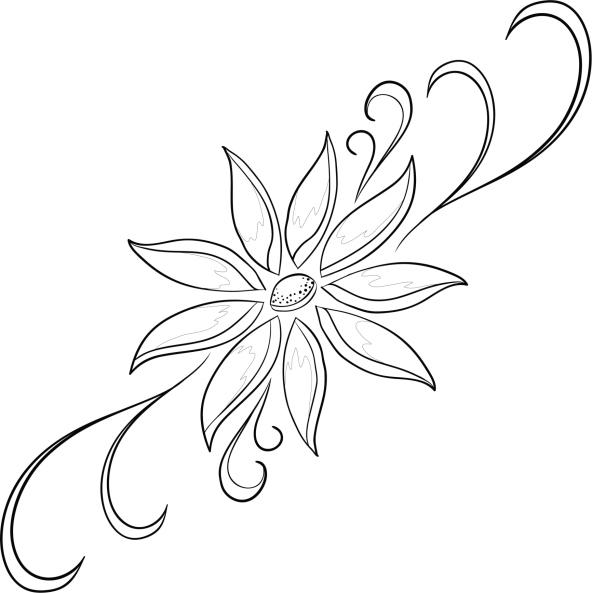 Imágenes de Flores para colorear - Dibujos De