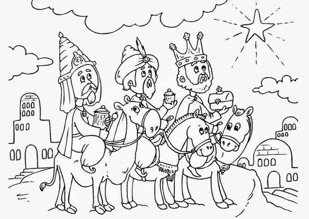 Imágenes de Reyes Magos para colorear - Dibujos De