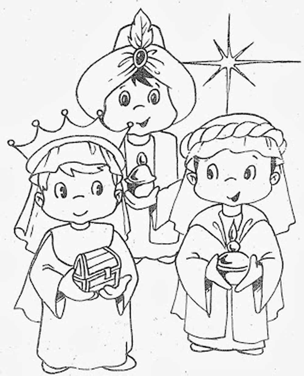 Imágenes De Reyes Magos Para Colorear Dibujos De