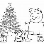 Mummy Pig y George en Navidad