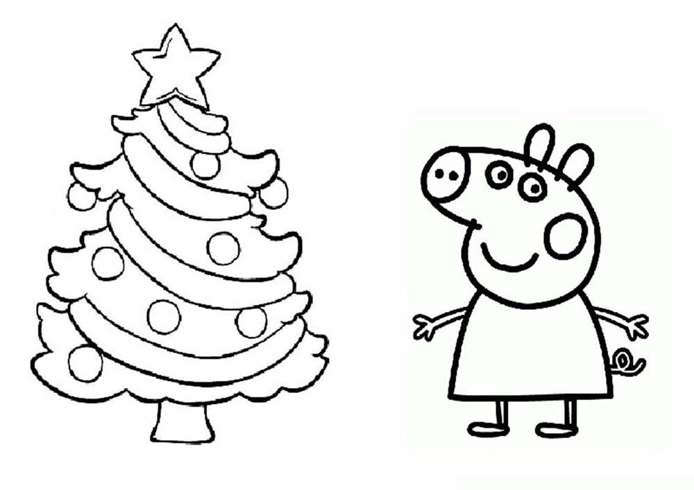 navidad de peppa pig para imprimir iluminar pintar y adornar