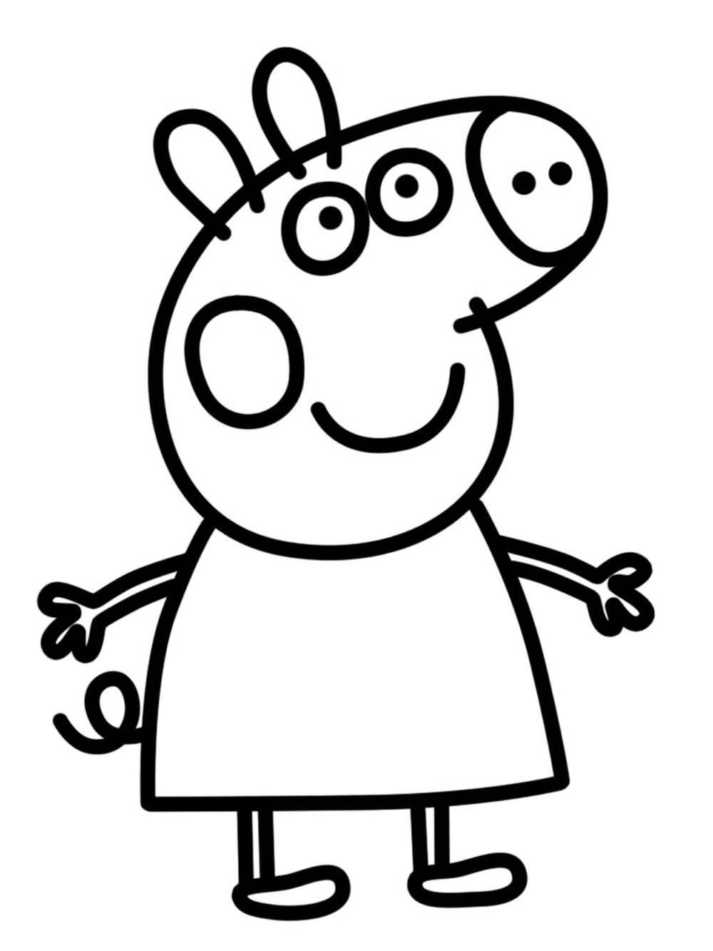Im genes de peppa pig para colorear dibujos de - Plantillas para pintar ...