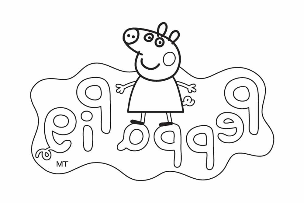 Dibujos De Peppa Pig Para Colorear: Pintar Dibujos De Peppa Pig. Perfect Dibujos De Peppa Pig