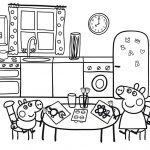 Peppa y George en la cocina