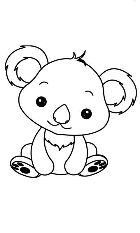 Imágenes de Animales Bebés para colorear - Dibujos De