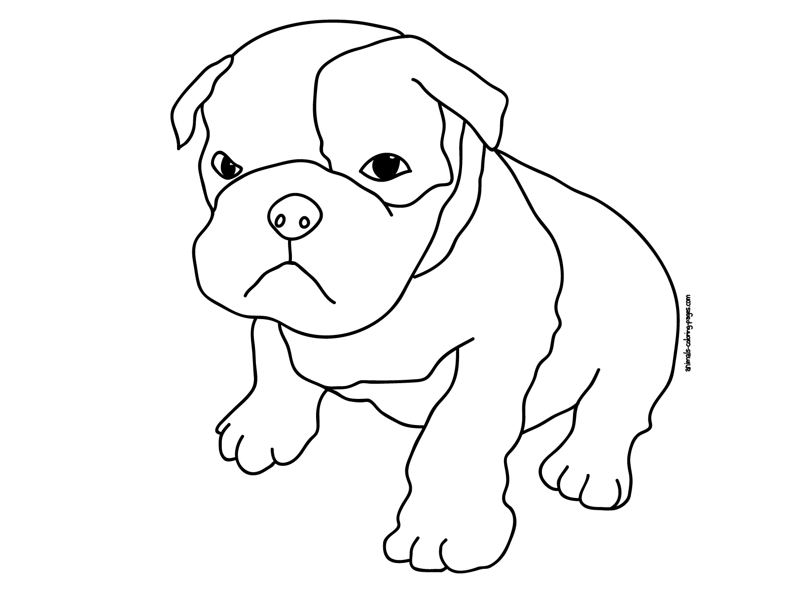 Dibujo de Perro para recortar e imprimir - Dibujos De