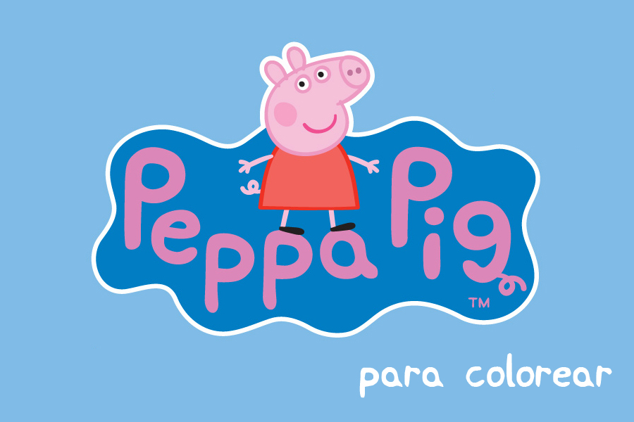 Peppa Pig Para Colorear