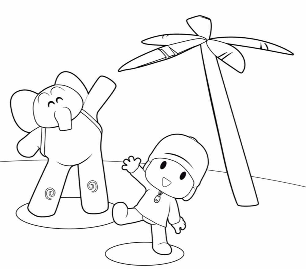 Imágenes de Pocoyo para Colorear y dibujar - Dibujos De