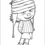 Imagn de Edith hija de Gru pelicula Minions para colorear y reortar