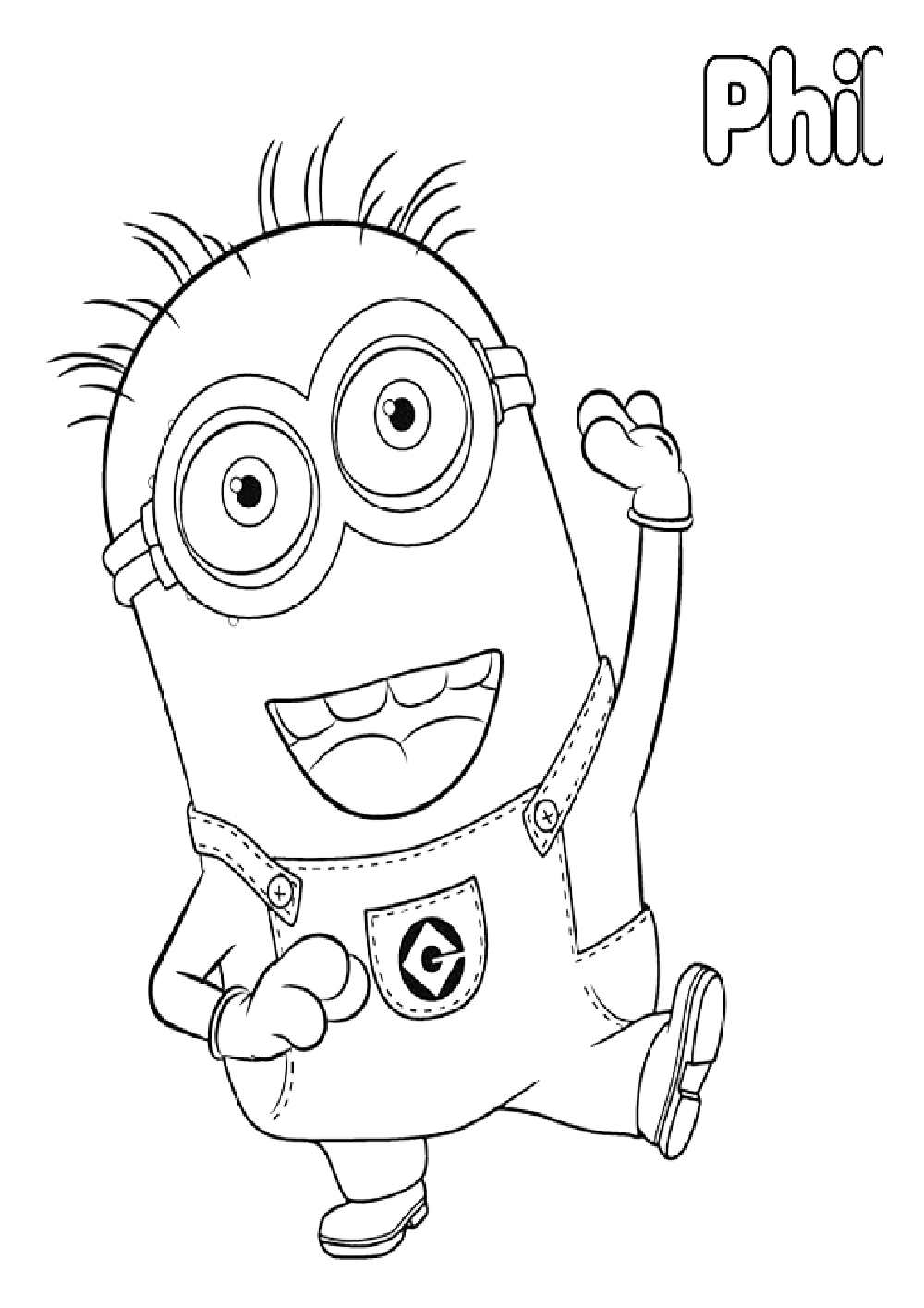 minion-phil-personaje-de-mi-villano-favorito-para-colorear ...