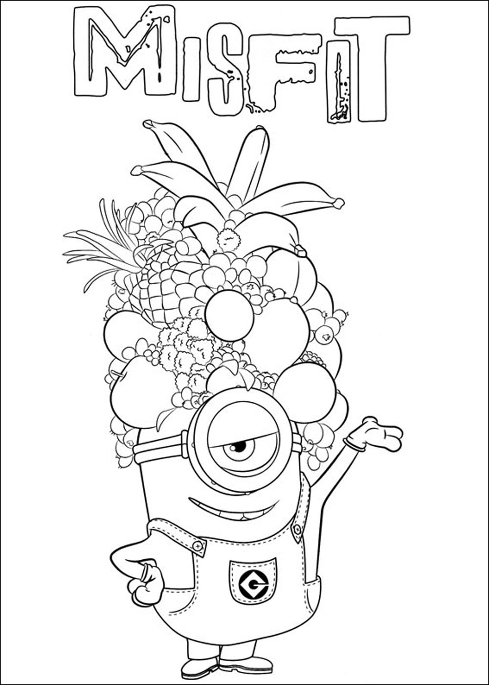 Im genes de minions para colorear dibujos de for Minion birthday coloring pages