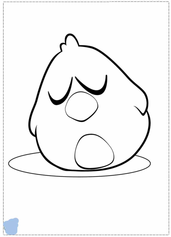 pajaroto dormido personaje de pocoyo lamina para dibujar y colorear