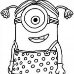 Stuart minion vestido de campesina niña