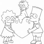 Bart Lisa Maggie los simpsons san valention