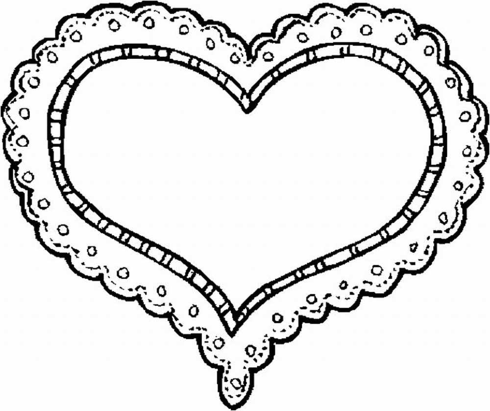 Corazon con Encaje sensual para el 14 de Febrero para recortar y ...