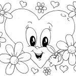 Corazon con flores para el día del amor y la amistad