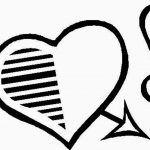 Corazon fechado por cupido con corazones
