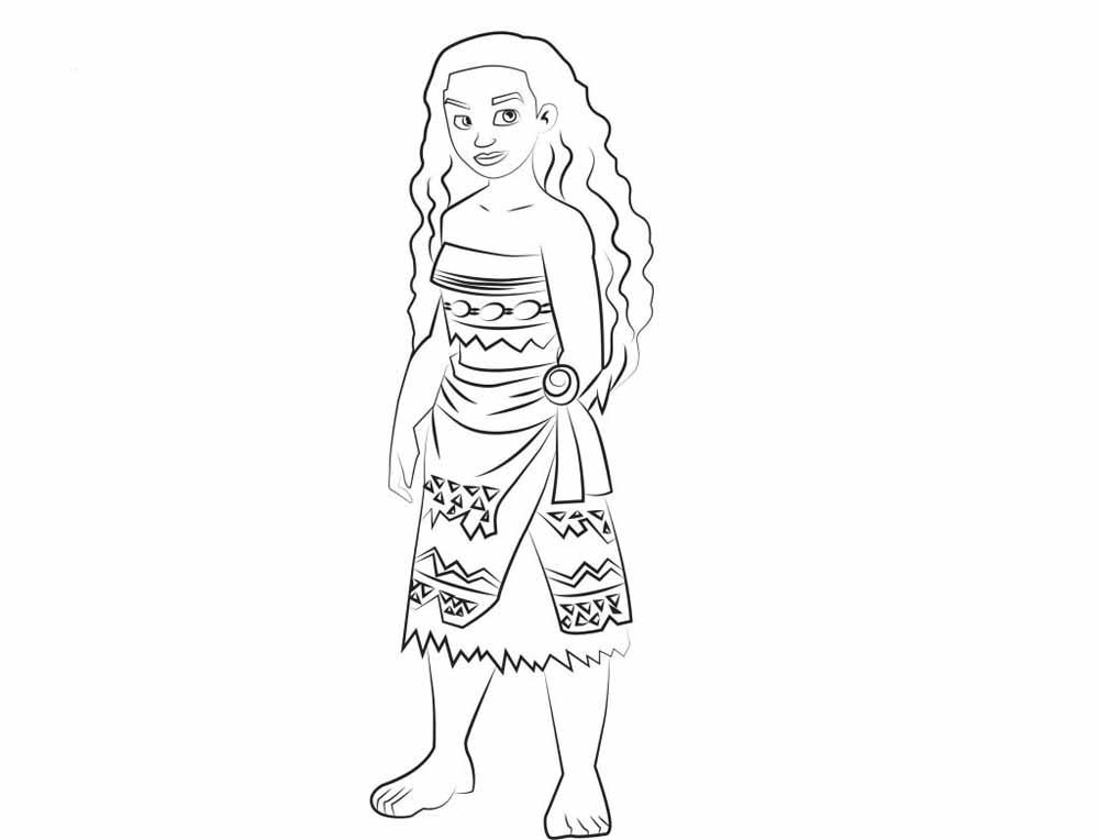 Imágenes de Moana para colorear - Dibujos De