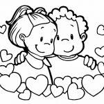 Niños felices enamorados para san valentin