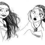Princesa Moana con pelo mojado de Disney