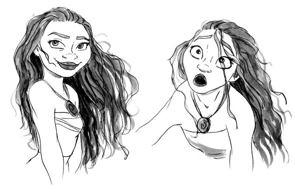 Dibujo Para Colorear De Maui Personaje Película Moana: Imágenes De Moana Para Colorear