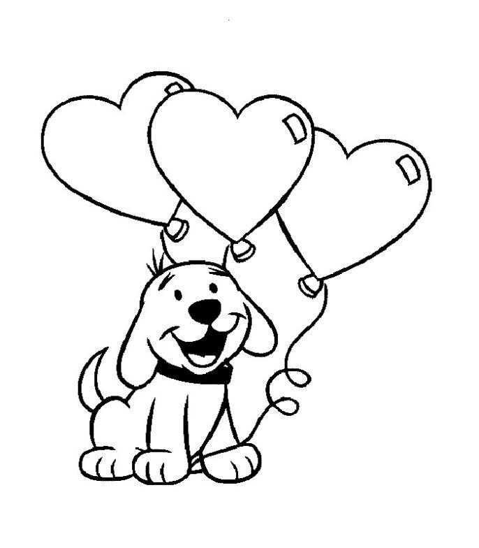 san-valentin-imagen-de-perro-con-globos-en-forma-de-corazon-para ...