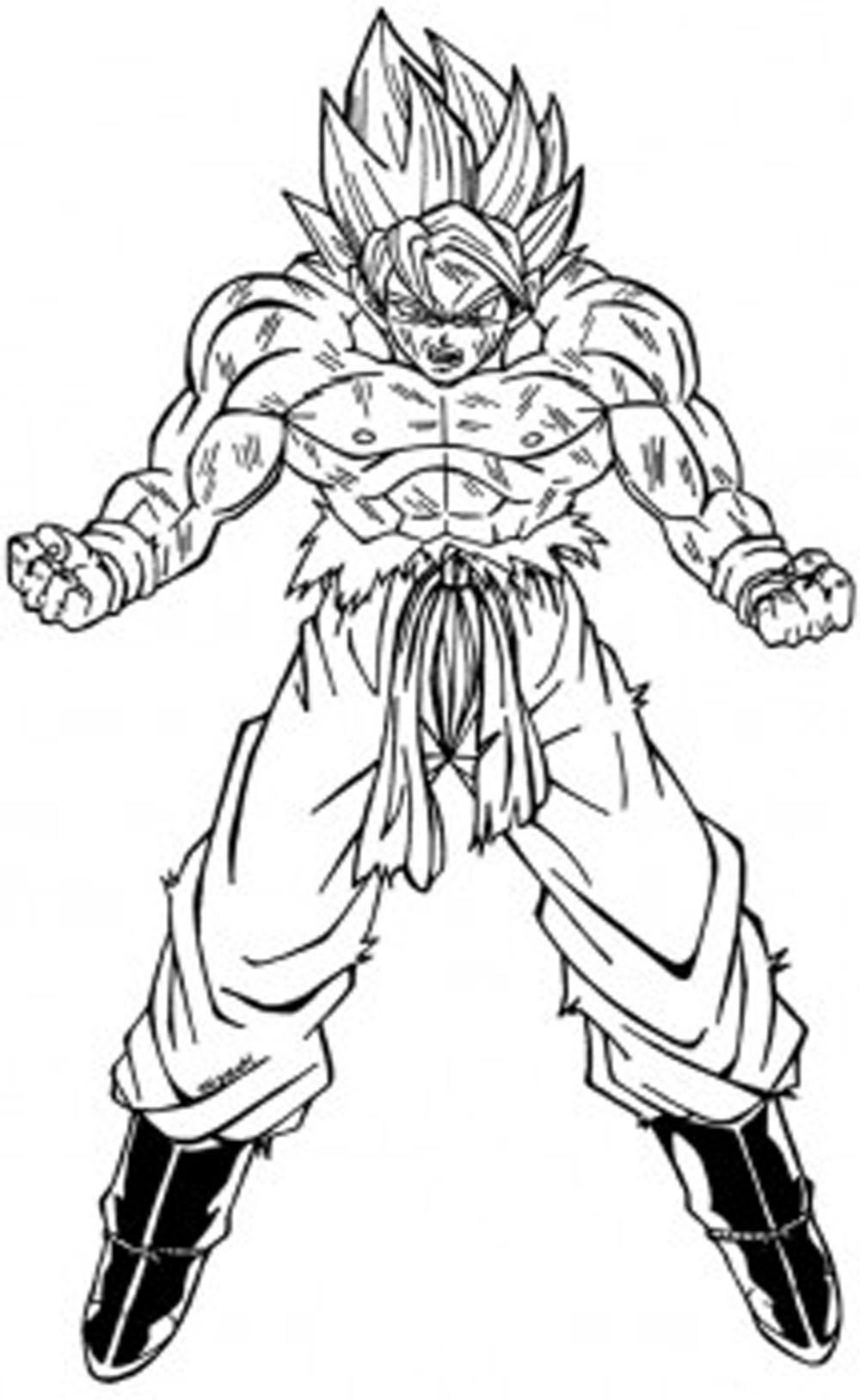 Dibujo de Goku fase 2 sayan para colorear y dibujar ...