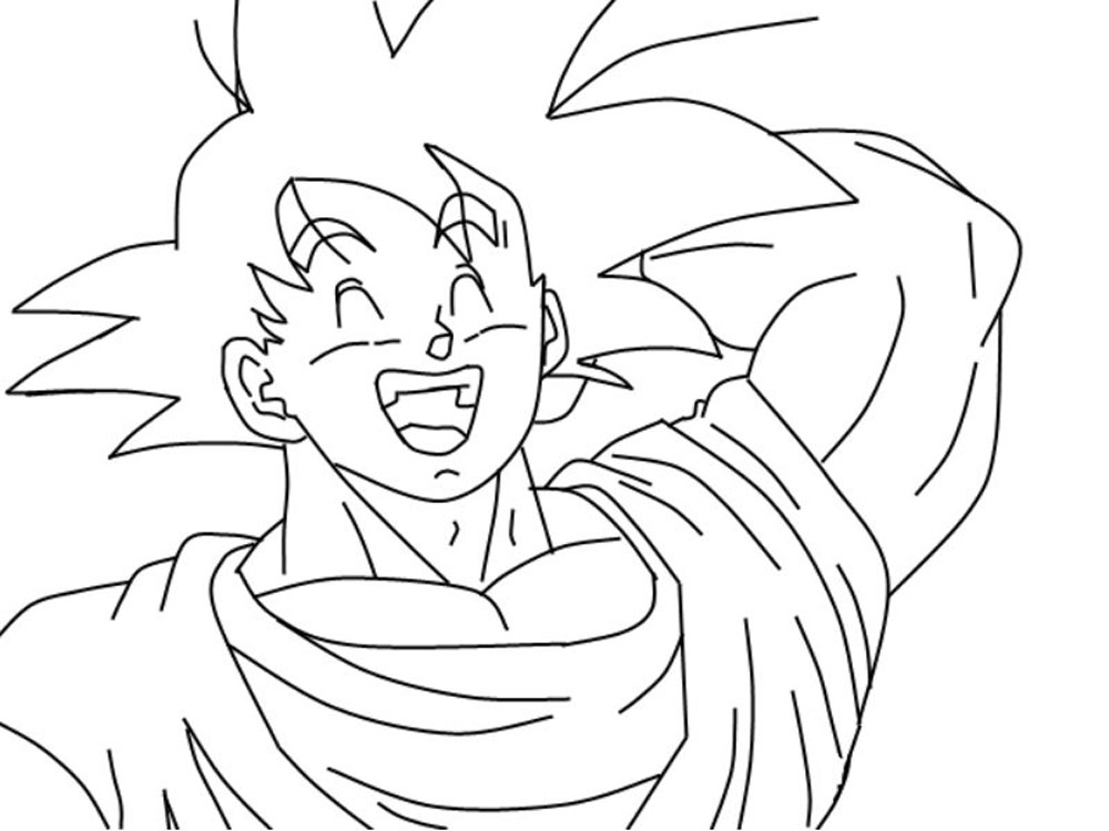 Dibujo De Goku Y Vegeta Para Imprimir Y Colorear: Imagen De Goku Para Colorear