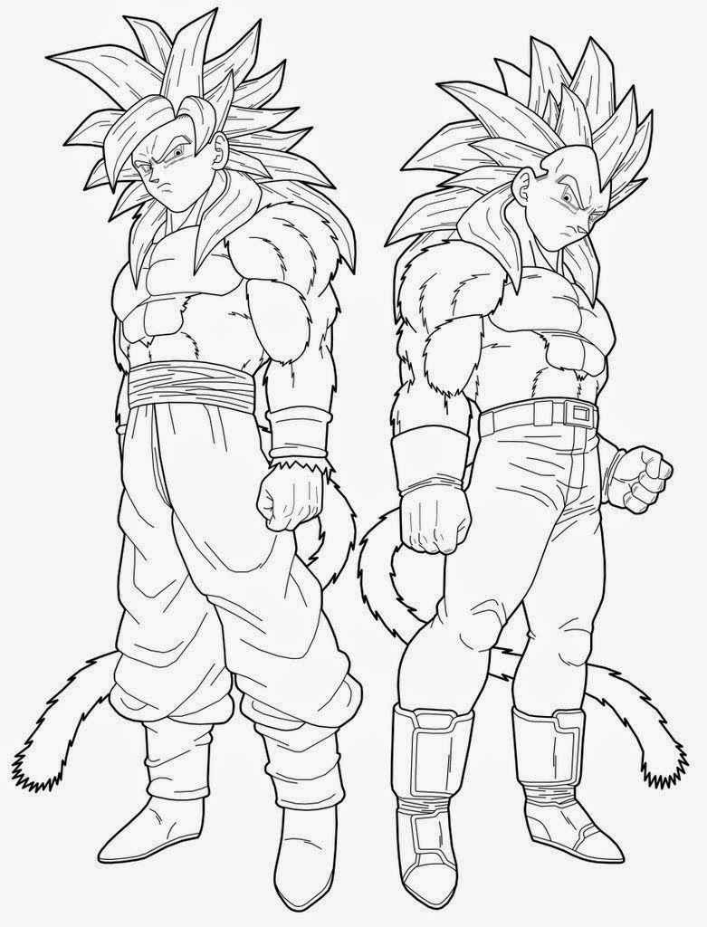 Dibujos Para Pintar Goku Fase 4 - Dibujos Para Pintar