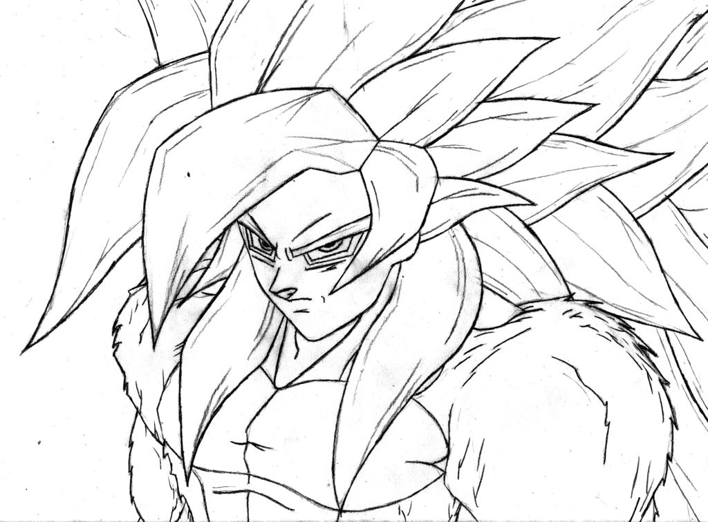 Dibujos Para Colorear Goku Para Imprimir: Dibujo De Gocu Para Iluminar E Imprimir
