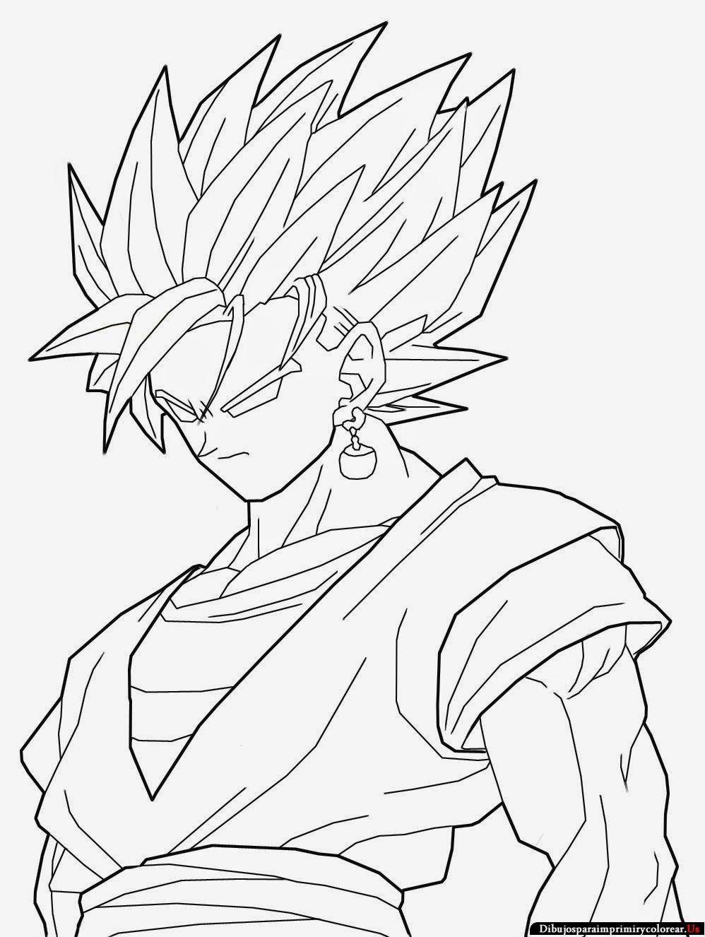 Dibujos de goku de Dragon Ball Z para Imprimir y Colorea ...