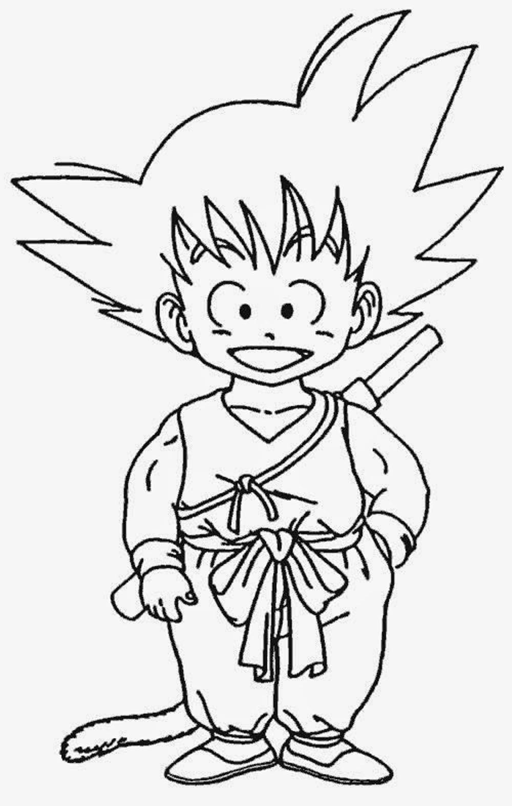 Goku para pintar - Dibujos De