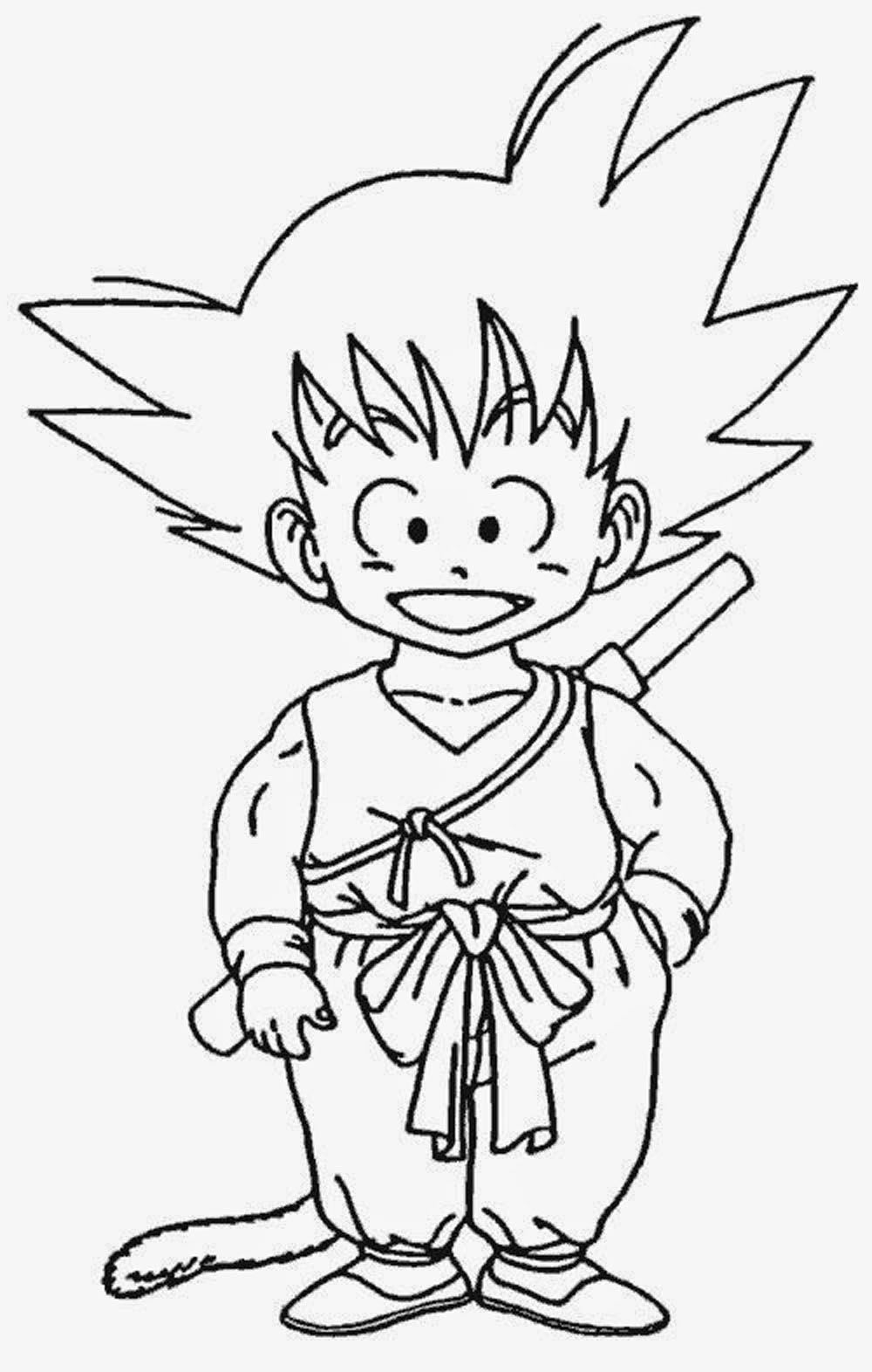 Goku Para Pintar on Dibujos De Navidad Para Colorear