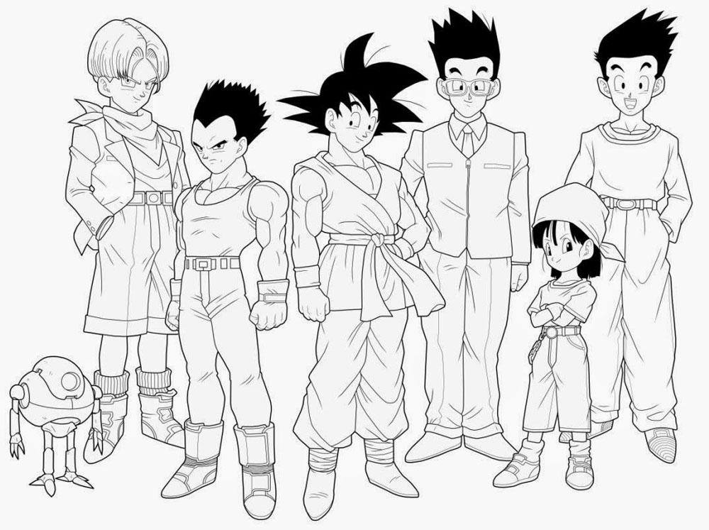 Colorear Goku Y Para Dibujos Para Colorear De Goku Ssj: Dibujos Para Colorear Goku Para Imprimir