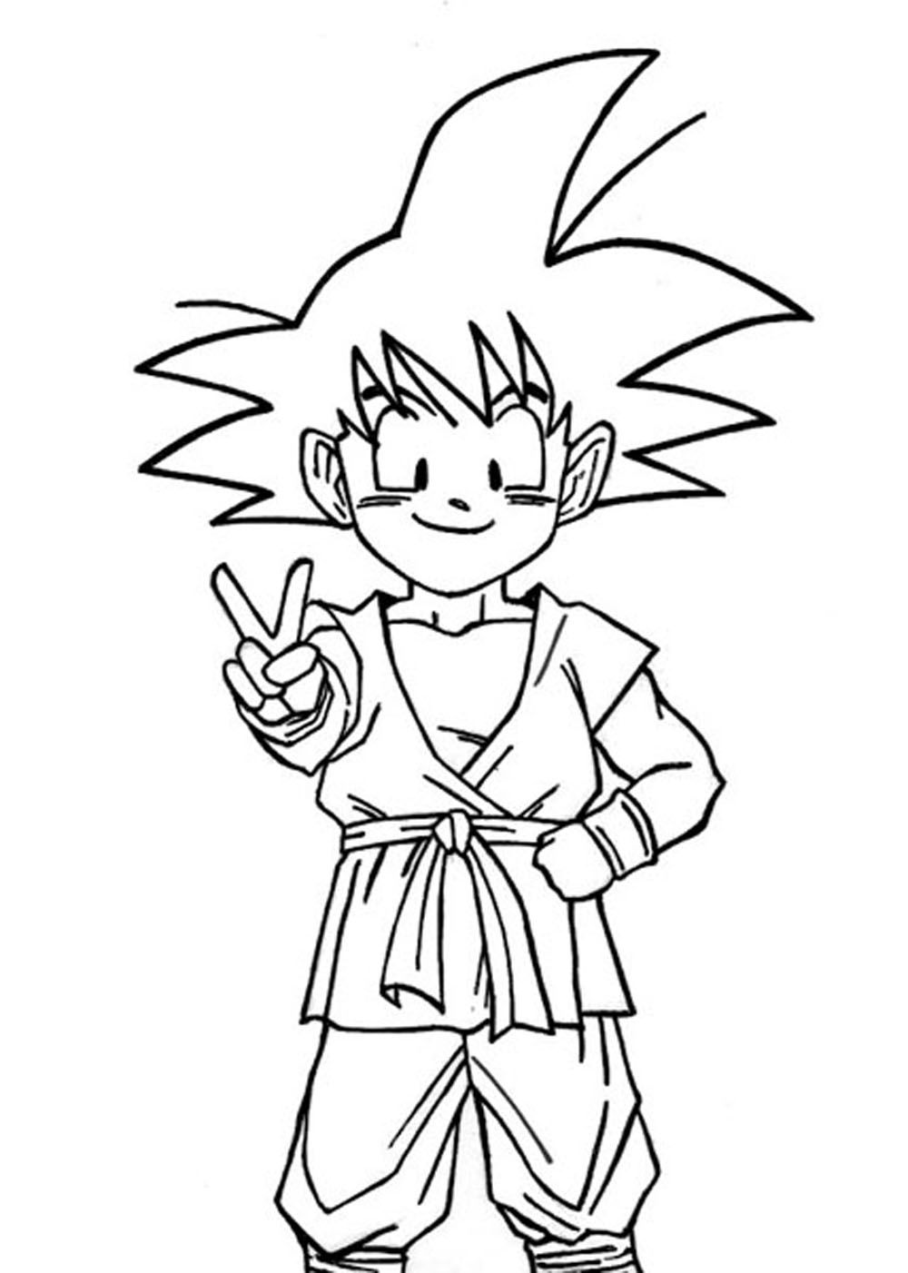Juegos De Pintar A Goku. Dragn Para Colorear Goku. Awesome ...