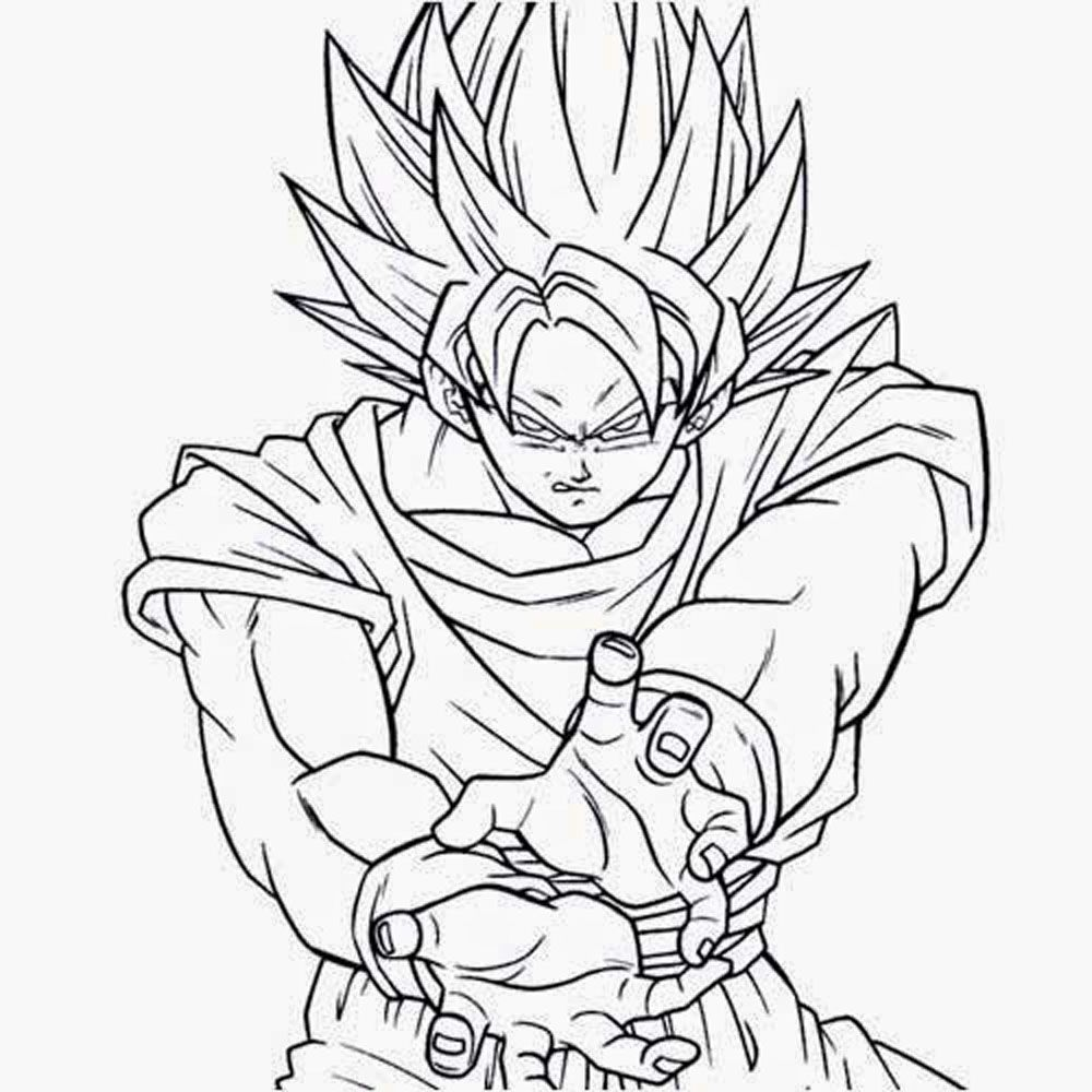 Colorea A Goku. Affordable Colorea A Son Goku Como Ms Te Juego Para ...