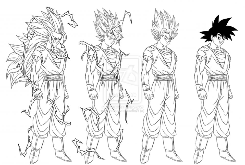 Black Goku Para Colorear
