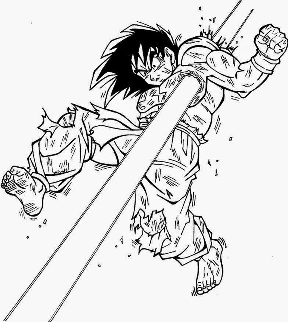 Goku Y Freezer Pelean Para Colorear Goku Y Freezerblack Goku Vs