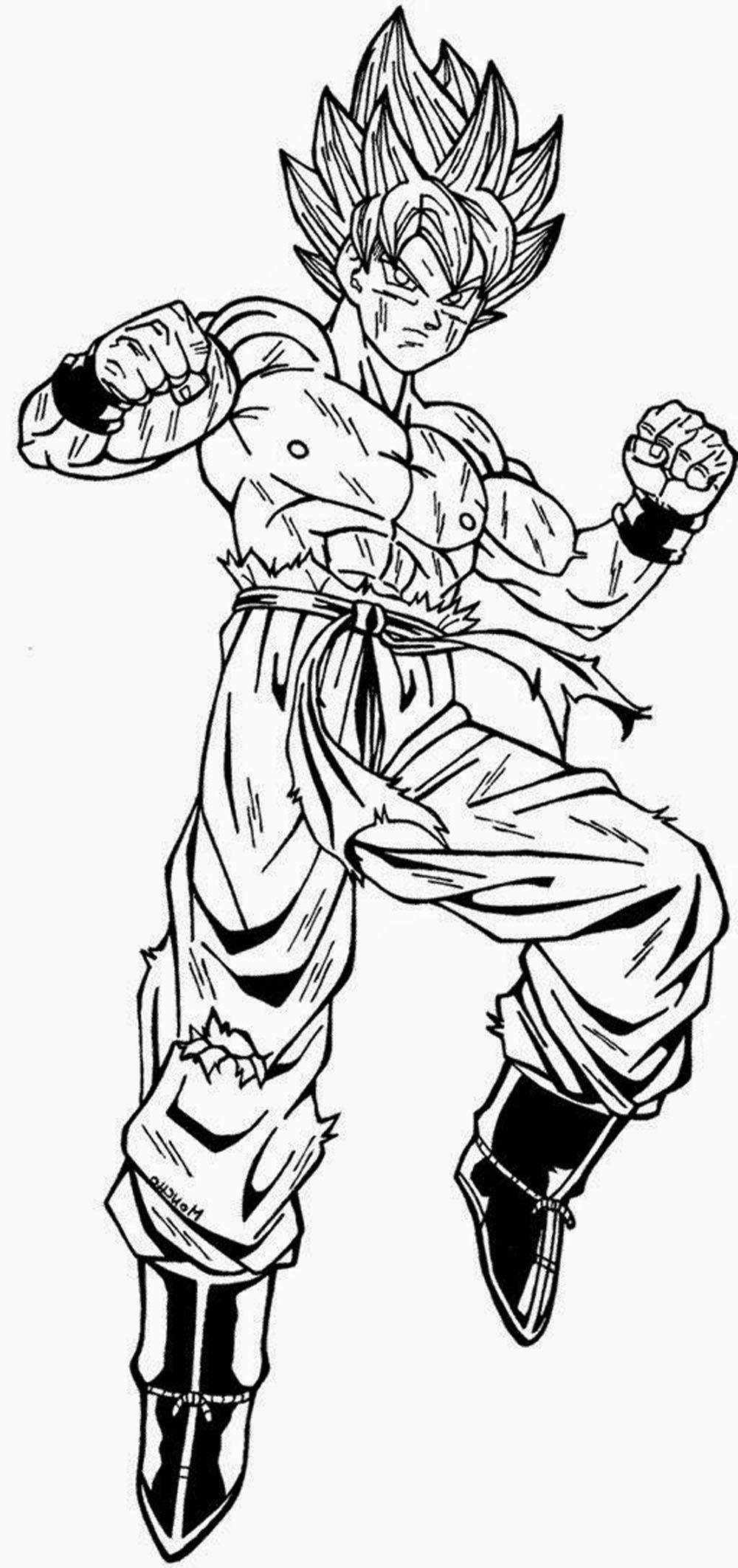 imagen para dibujar de goku en modo super sayajin dibujos de